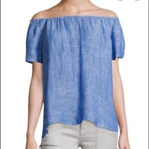 Joie Off The Shoulder Chambray Shirt Size XS